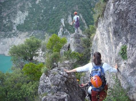 aproximación escarpada. foto: José Fernández