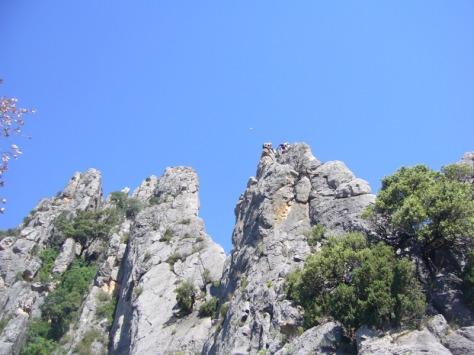 primer tramo de cresta. foto: José Fernández