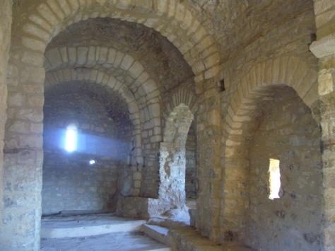 interior de la ermita de Santa Quiteria. foto: José Fernández