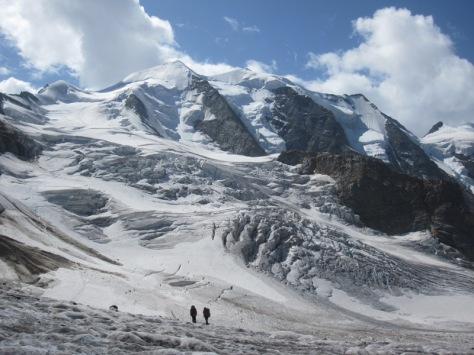 glaciar Persa y Palü. foto: Francis Tomas