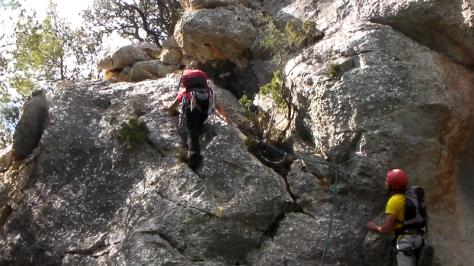 cresta La Foradá. captura de vídeo: Félix Escobar