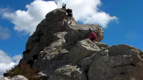 cresta de La Foradá. captura de vídeo: Félix Escobar