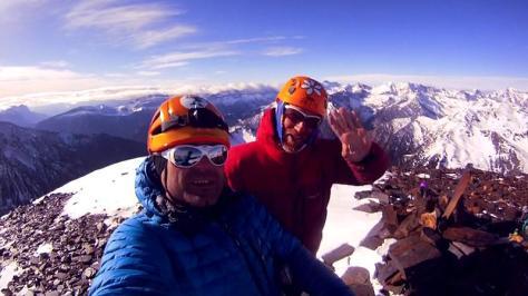 Pico La Espada, cumbre. captura de vídeo: Félix Escobar