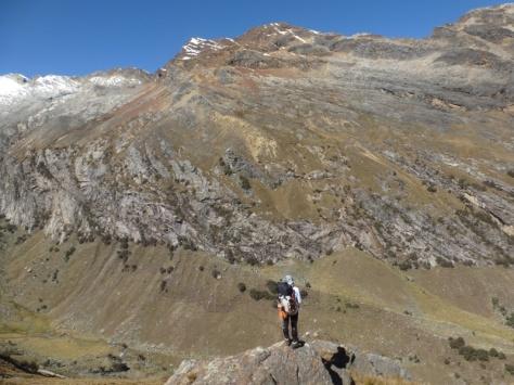 bajada a la Quebrada Llaca. foto: Javier García