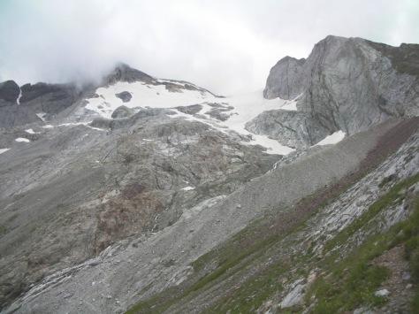 lengua terminal del Glaciar de Ossoue, cada año más retraido. foto: Félix Escobar