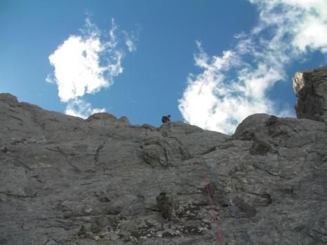 llegando a la cresta a la altura del primer gendarme. foto: Félix Escobar