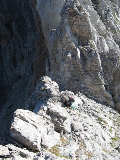 destrepe y muro enfrente a escalar. foto: Luis Gil