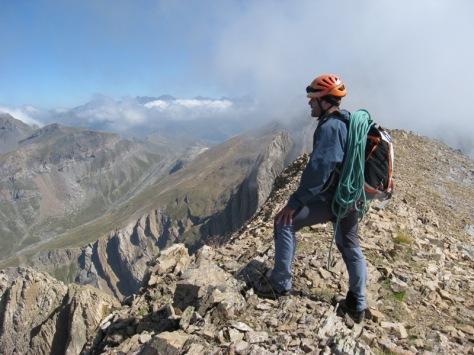 cresta hacia Pico Ripera. foto: Luis Gil