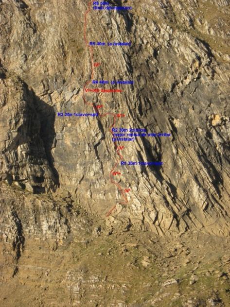nuestra línea en la norte del Aspe. foto: Luis Gil