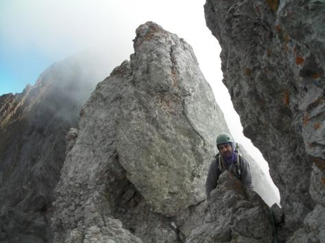 flanqueo en la cresta. foto: Félix Escobar