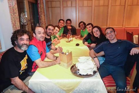 Jesús, Félix, Diego, Carlos, Carmelo, Juan, Alberto, Juan Carlos, Blanca y Iván. foto: Iván Jara.