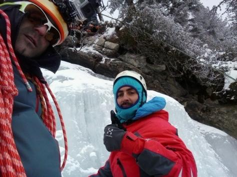 Diego y yo en lo alto de Fallebachfall