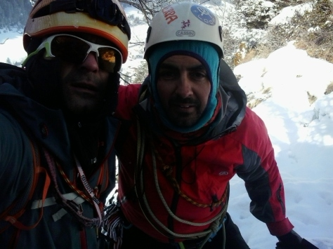Diego y yo en lo alto de Klockelefall