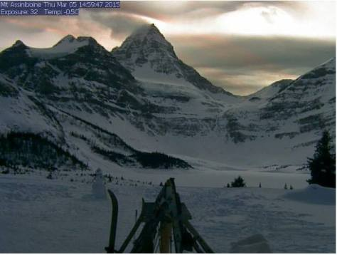Mount Assiniboine desde Assiniboine Lodge