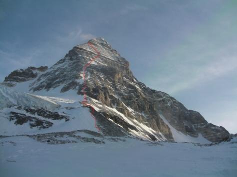 Assiniboine 3.618m. ruta que hicimos, hasta 3.430m. foto: Félix Escobar.