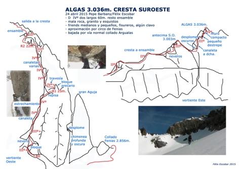 cresta SurOeste de Algas. reseña: Félix Escobar