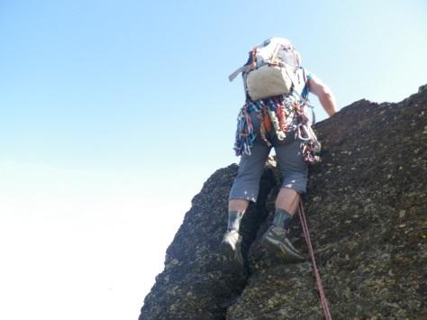 destrepe en la cresta. foto: Eva Abascal