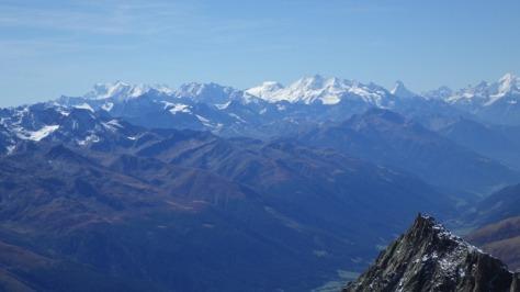 Monte Rosa, grupo Mischabel, Matterhorn y Weisshorn. foto: Eva Abascal