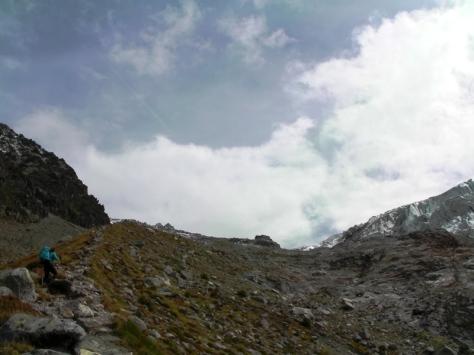 morrena de Glacier du Tour, refuge Albert I. foto: Félix Escobar