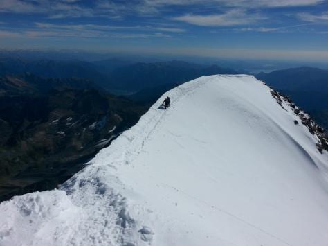 última arista de nieve. foto: Francis Tomas