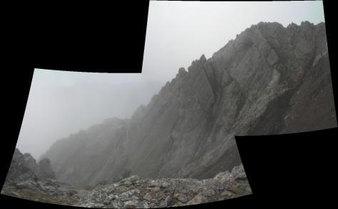 parte final de la cresta desde el palo de la Bandera. foto: Félix Escobar