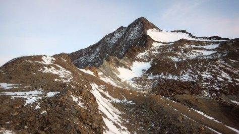 nosotros subiemos por aquí, la cresta Sur del Weissmies. foto: Eva Abascal