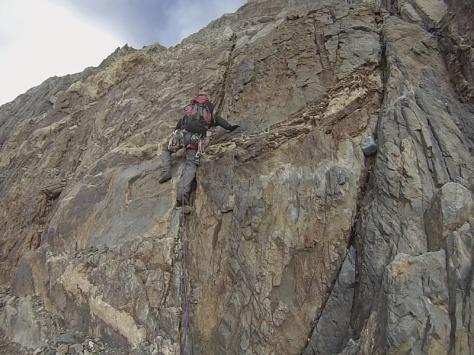 comienzo de la escalada. captura de imagen: Félix Escobar