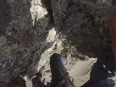 quinto largo de segundo, atención a la roca. captura de imagen: Félix Escobar