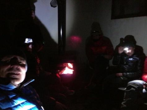 estufa de leña en el refugio de Urdiceto. foto: Félix Escobar