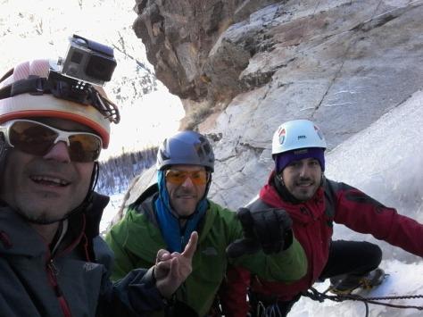 con Fran y Manu en el final de Patri de Gauche. foto: Félix Escobar