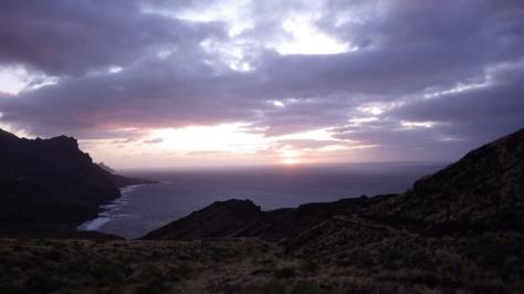 anochecer desde Risco de Agaete. foto: Eva Abascal