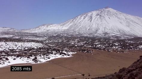 Teide desde Degollada del Cedro. captura de imagen: Félix Escobar