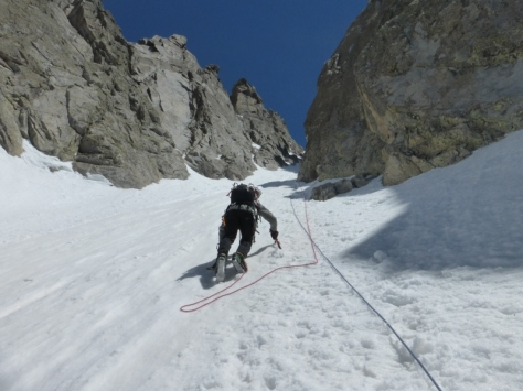 corredor de nieve 45º. foto: Fran Roy
