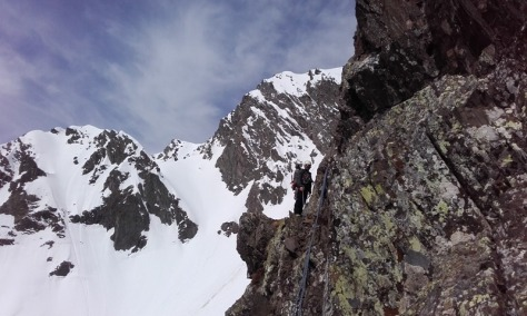 flanqueo en el tramo rocoso. foto: Félix Escobar