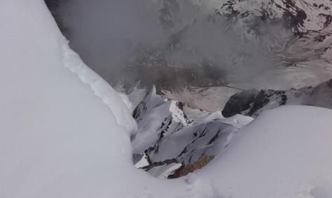las aristas recorridas vistas desde cima. foto: Félix Escobar