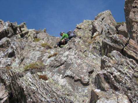 sección de buena roca. foto: Luis Gil