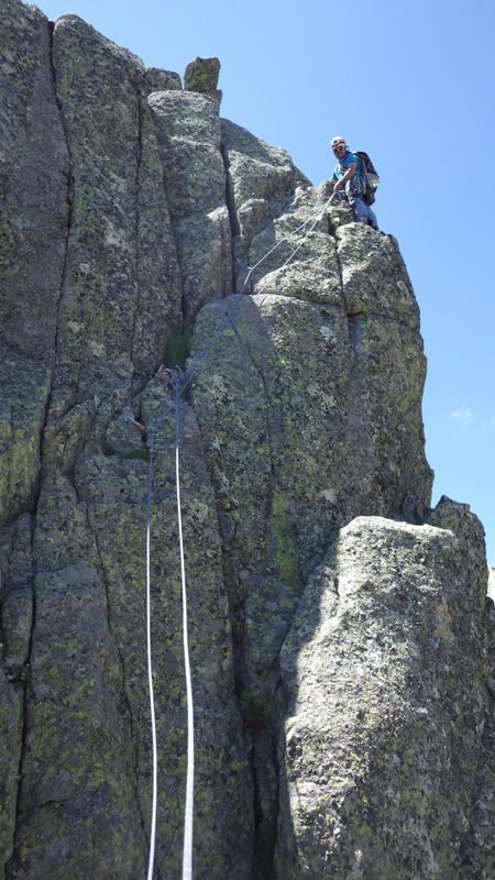 uno de los pasos difíciles, IV+ creo aunque parezca facilón... foto: Eva Abascal