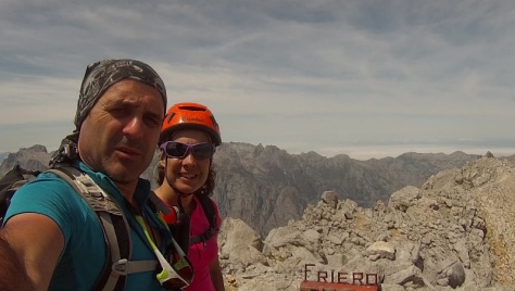 cumbre Torre del Friero 2.445m. captura de vídeo: Félix Escobar