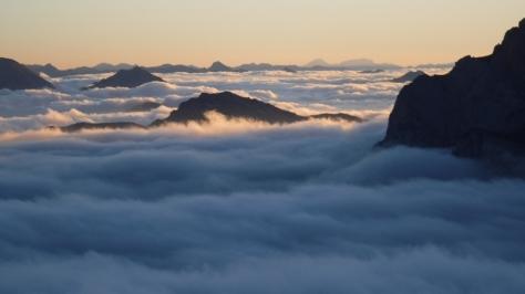 las nubes bajas crean un ambiente mágico. foto: Félix Escobar