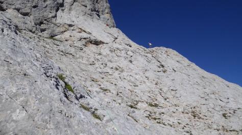 hacia el hombro Noroeste. captura de vídeo: Eva Abascal