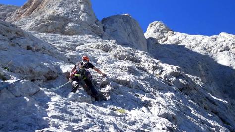 cuarto largo, comienza lo vertical. captura de vídeo: Eva Abascal