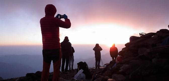 Montcalm, vivac en la cima, Pireneístas Sin Fronteras